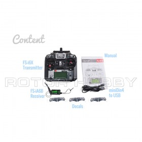 FS-i6X 2.4G 6-10CH AFHDS 2A RC Transmitter with FS-iA6B receiver