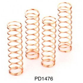 PD1476 THUNDER TIGER Shock Spring - X-Firm (4pcs), MTA-4, for [6228F] MTA-4 S28, [6225F] MTA-4 Sledge Hammer S50