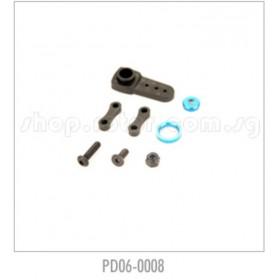 PD06-0008 THUNDER TIGER Servo Horn Set, for [6400] EB-4 G3, [6401] MT-4 G3, [6402] ER-4 G3
