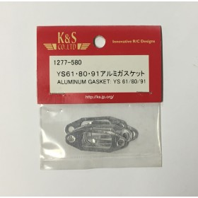 K&S 1277 Aluminium Muffler Gaskets (5pcs/pkt): For YS 61, 80, 91