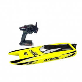 ATOMIC RC High speed racing electric boat 50km/h strong ABS unibody hull RTR