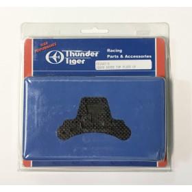 PD1843-B THUNDER TIGER Servo Saver Top Plate (Carbon Fiber / Black), for [6401] MT-4 G3 Option Part, [6402] ER-4 G3 Option Part