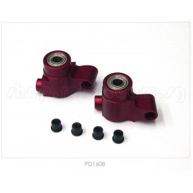 PD1608 THUNDER TIGER CNC Alum Rear Hub (Red), SS, for [6713F] SSK V2 Option Part