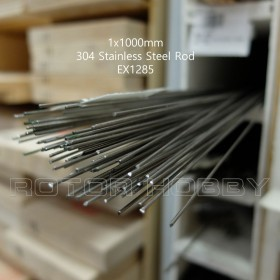 1x1000mm Stainless Steel Rod (1 pc), 304