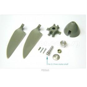 PE0565 THUNDER TIGER Propeller Set Bag (8x6 for 3.17mm motor shaft), for [4308] eHawk 2000 or universal use