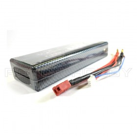 [HARD CASING FOR RC CAR] 7.4V 6000mAh 60C LiPo Battery, T Plug, 2S, ~139x48x25mm, ~310g