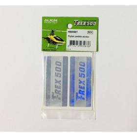 H50058T ALIGN Flybar Paddle Sticker, for T-REX 500