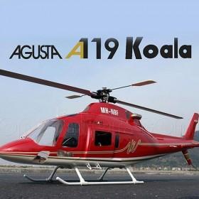 [NETT] Agusta A119 Koala Fiberglass Fuselage / Bodyshell, RED