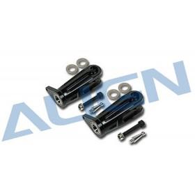 HN7004T ALIGN Metal Main Rotor Holder (Black), for T-REX 700 Nitro / trex700