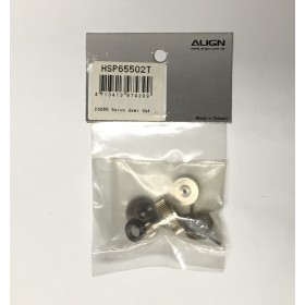 HSP65502T ALIGN Servo Gear Set, for DS655 Servo / trex t-rex
