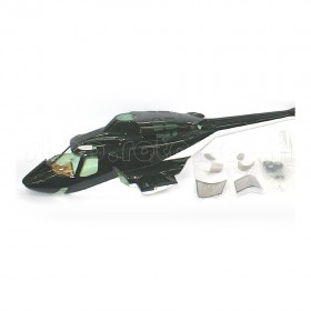 [NETT] Airwolf Deluxe 30 ARF Painted Model Engine Helicopter Fiberglass Fuselage