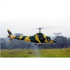 [NETT] FUN-KEY Agusta 109A Deluxe 30 ARF Painted Model Engine Helicopter Fiberglass Model Helicopter Fuselage, Bodyshell