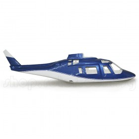 Agusta A-109 Fiberglass Fuselage 50 size, Blue & White [OFFER - NO WINDSCREEN!!]