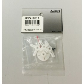 HSP41001T ALIGN DS410 / DS420 Servo Horn Set, for DS410 / DS420 servo / trex t-rex