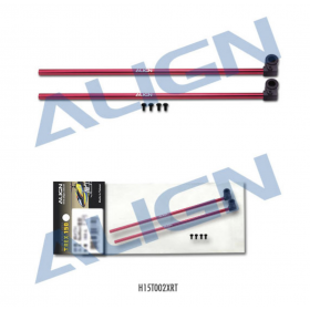 H15T002XRT ALIGN 150 Tail Boom (Red), for T-REX 150 / trex150