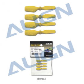 HQ0203CT ALIGN 20 Tail Blade (Yellow), for T-REX 150 / trex150