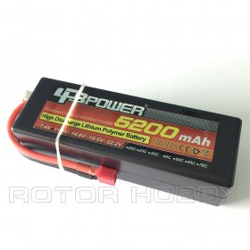 [HARD CASING FOR RC CAR] 11.1V 5200mAh LiPo Battery, 45C, T connector