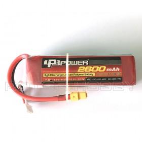 11.1V 2600mAh 60C LiPo Battery, XT60 connector