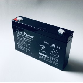 FP672 FirstPower® Rechargeable Lead Acid Battery 6V 7.2Ah/20Hr, Non-Spillable (~ 1.1kg), ISO9001 7200mah Pb