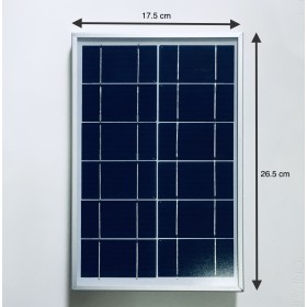 6W 6V Small Solar Panel (LxWxH: 26.5 x 17.5 x 1.6cm) with 4.8M cable #6WSOLARPANEL