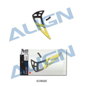 ALIGN 550L Carbon Vertical Stabilizer - Yellow, for T-REX 550 / 600 RC Helicopter