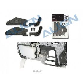 HN6066T ALIGN Frame Brace Set (CF) for T-REX 600 Nitro Upgrade