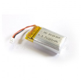 3.7V 300mAh LiPo Battery with White JST-PH1.25 connector