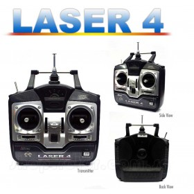 [Stock Clearance] Hitec LASER 4 FM 4-Channel Radio Control System (29 MHz) (Mode 1) (Surface, For R/C Planes or Boats) LASER4FM