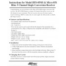 [Stock Clearance] Hitec Micro 05S 5-Channel FM Receiver(Single Conversion), Available in 72 MHz