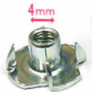Blind Nut (2pcs) - Please select your preferred sizes / 4mm 6mm BN0660 BN04