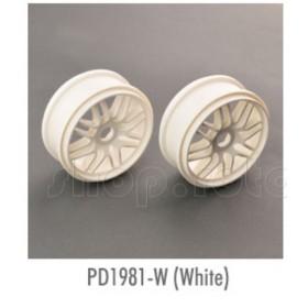 THUNDER TIGER 1/8 Multi-Spoke Wheel (2pcs), for [6231F] EB-4 S3, [6400] EB-4 G3, [6243] EB4 S2.5 PRO - please select color