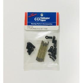 PD9190 THUNDER TIGER Titanium (Ti) Turnbuckle Set, TAEB, for Sparrowhawk XB / XXB Option Part