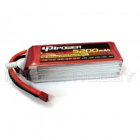 14.8V 5200mAh 60C LiPo Battery, T plug