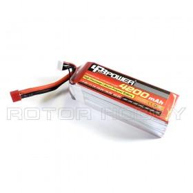 22.2V 4200mAh 60C LiPo Battery, T plug
