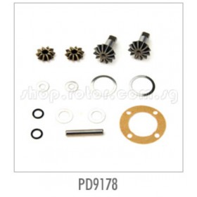 PD9178 THUNDER TIGER Differential (Diff) Gear Set, TA-EB, for [6542F] Sparrowhawk XXB