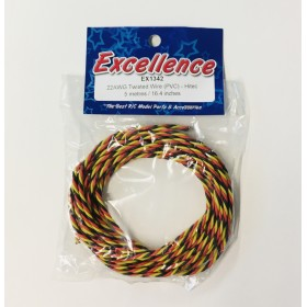 EX1342 EXCELLENCE 22AWG Twisted Wire (PVC), for Hitec RCD, Length: 5 Metres / 16.4ft