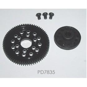 PD7835 THUNDER TIGER Spur Gear/Drive Cup, 72T, for Sparrowhawk VX / DX Drift / DX II
