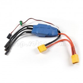 Waterproof and Water-Cooled 60A Brushless Electronic Speed Controller (ESC) with 3.5mm Banana connector and XT60 plug