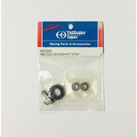 PD7259 THUNDER TIGER Rev Idle Gear & Shaft, MTA4, for [6225F] MTA-4 Sledge Hammer S50