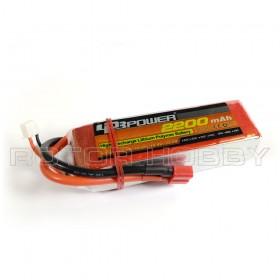 11.1V 2200mAh 60C LiPo Battery, T plug