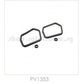 PV1353 THUNDER TIGER Tank Rubber Grommets, for Raptor [4855] Titan X50, [4856] Titan X50 Torque-tube version