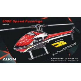 500E Speed Fuselage - Red & White for T-REX 500 PRO / PRO DFC
