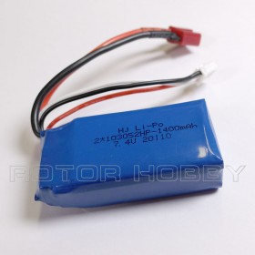 7.4V 1400mAh LiPo Battery, T plug