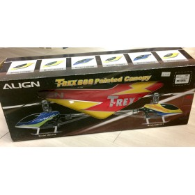 ALIGN 600E Painted Canopy, Lightning Red for T-REX 600 Electric Helicopter