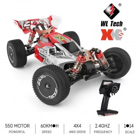 Wltoys 1/14th scale 2.4G 4WD 60KM/h 144001 RSR High Speed Buggy RC Off Road Vehicle Car