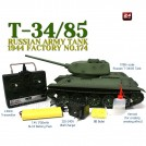 RC Metal Smoking Tank 2.4GHz 1/16 Russian T-34/85