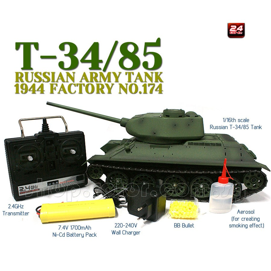 RADIO REMOTE CONTROL BB TANK BB BULLETS SHOOTING 1:30 ARMY TANK
