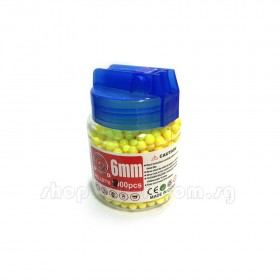Plastic BB Bullets 6mm, 0.1g for RC Tank Use, about 800pcs