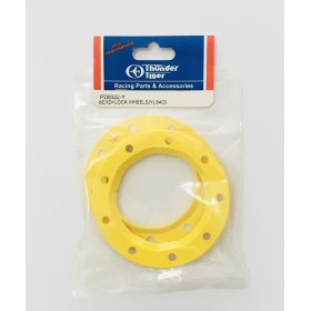 PD8322-Y THUNDER TIGER Bead Lock Ring (Yellow)(2pcs), for [6225F] MTA-4 Sledge Hammer S50, [6403] eMTA