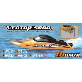 Vector SR80 PRO 800mm RC Electric Racing Boat 70Km/h ARTR